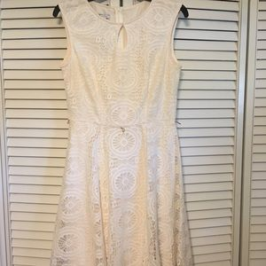 London Times Cream lace dress, size 6